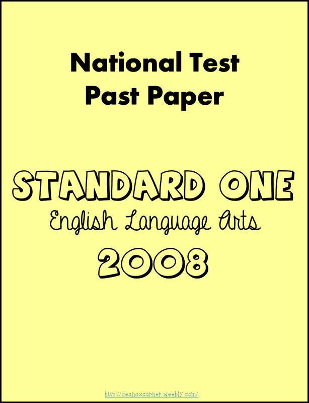 National Test Papers - Deana\'s Corner
